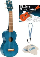Mahalo MK1 SET Ukulele soprano Transparent Blue