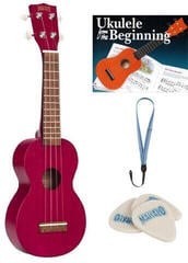 Mahalo MK1 SET Sopran Ukulele Transparent Red