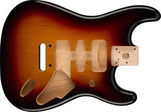 Fender Deluxe Series Stratocaster HSH Alder Body 2 Point Bridge Mount 3-Color Sunburst