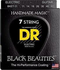 DR Strings Black Beauties BKE7-11