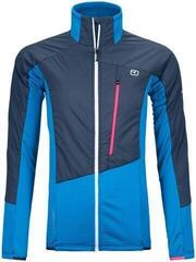 Ortovox Westalpen Swisswool Womens Hybrid Jacket Safety Blue