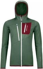 Ortovox Fleece Grid Womens Hoody Green Forest