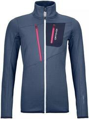 Ortovox Fleece Grid Womens Jacket Night Blue