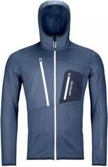 Ortovox Fleece Grid Mens Hoody Night Blue