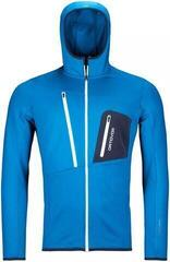 Ortovox Fleece Grid Mens Hoody Safety Blue