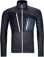 Ortovox Fleece Grid Mens Jacket Black Steel