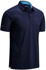 Callaway All Over Chev Print Mens Polo Shirt Peacoat M