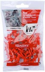 Masters Golf Plastic Graduated Tees 1 1/4 Inch Red 30 pcs