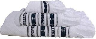 Marine Business Santorini Anchors White Towel Set