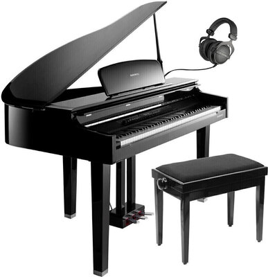 Kurzweil CGP220 Digital Concert Grand Ebony Polish SET