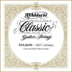 D'Addario Silver-plated Copper Classical Single String 024