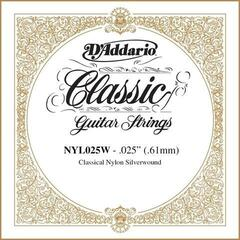 D'Addario Silver-plated Copper Classical Single String 025