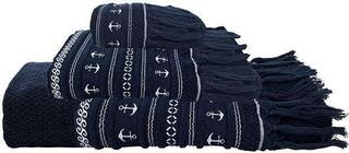 Marine Business Santorini Anchors Blue Navy Towel Set