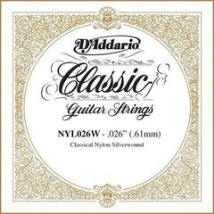 D'Addario Silver-plated Copper Classical Single String 026
