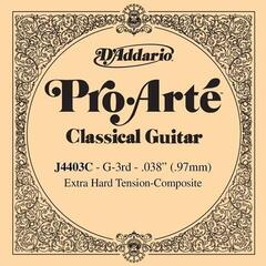 D'Addario Pro-Arte Composite Classical Guitar Single String Extra-Hard Tension Third String
