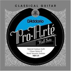D'Addario Pro-Arte Hybrid Carbon G/B Classical Guitar Half Set Hard Tension