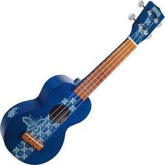 Mahalo MK1BA Ukulélé soprano Batik Transparent Blue