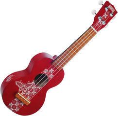 Mahalo MK1BA Szoprán ukulele Batik Transparent Red