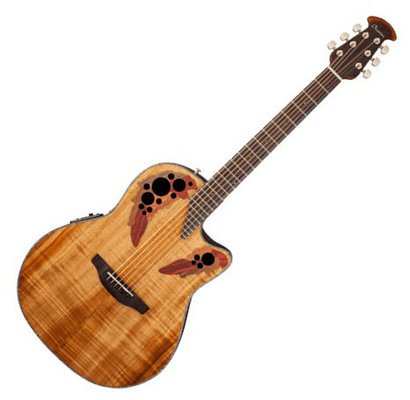 Ovation CE44P-FKOA Elite Plus Celebrity Mid-Depth - Figured Koa