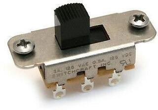 Fender Jaguar/Jazzmaster Slide Switch DPDT Black