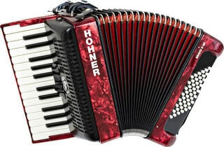 Hohner Bravo II 48 Red Piano accordion