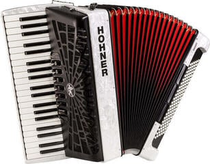 Hohner Bravo III 120 White Piano accordion