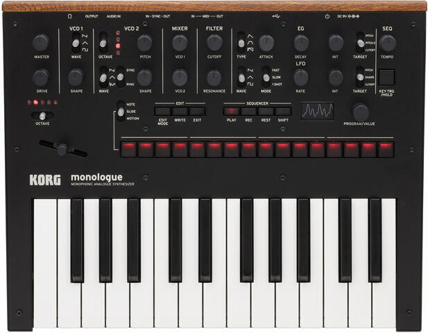 Korg Monologue Black Synthesizer