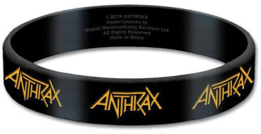 Anthrax Gummy Wristband Logo