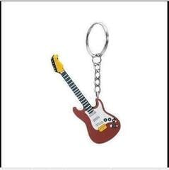 Musician Designer Music Key Chain Electric Guitar Brown