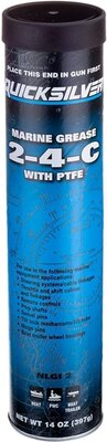 Quicksilver 2-4-C Marine Grease With PTFE 14OZ