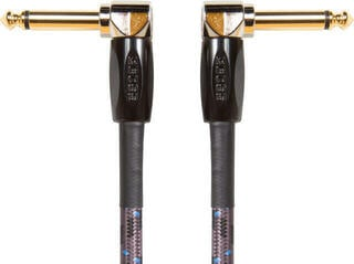 Boss BIC Gold Instrument Cable Brown/Angled - Angled-Braided