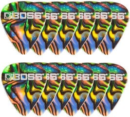 Boss BPK-12-AM Celluloid Pick Medium Abalone 12 Pack