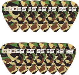 Boss BPK-12-CT Celluloid Pick Thin Camo 12 Pack