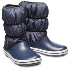 Crocs Women's Winter Puff Boot Navy/White