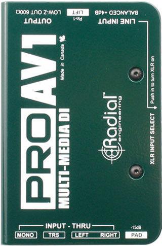 Radial ProAV1 Multimedia DI Radial