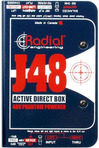 Radial J48 Phantom Powered Active Direct Box Radial