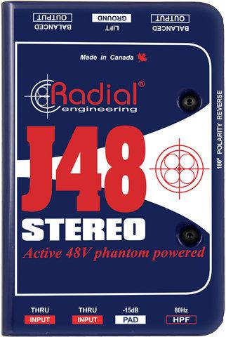 Radial J48 Stereo Phantom Powered Active Direct Box Radial
