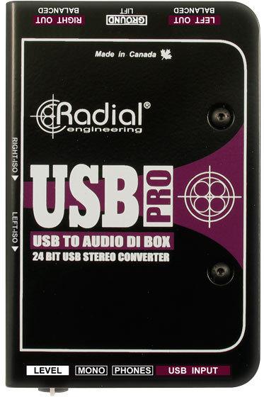 Radial USB-Pro Stereo USB Laptop DI Radial