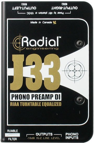 Radial J33 Turntable Direct Box Radial