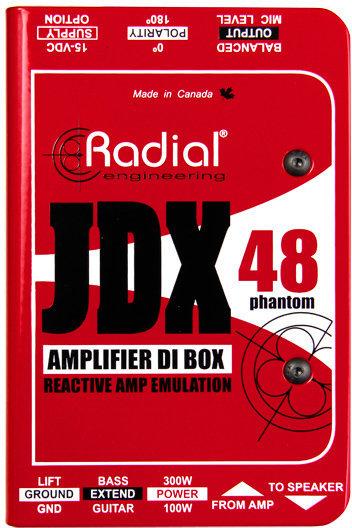 Radial JDX 48 Reactor Guitar Amp Direct Box Radial