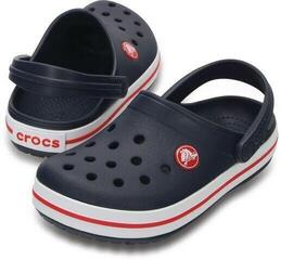 Crocs Kids' Crocband Clog Navy/Red 29-30