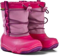Crocs Kids' Swiftwater Waterproof Boot Party Pink/Candy Pink