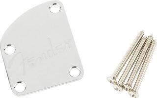 Fender Countoured Heel Neck Plate w/Spaghetti Logo Chrome