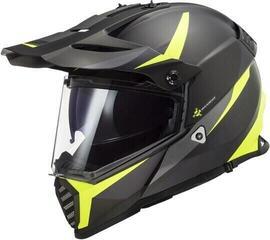 LS2 MX436 Pioneer Evo Matt Black H-V Yellow