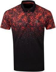 Galvin Green Mason Ventil8+ Mens Polo Shirt Black/Red Orange