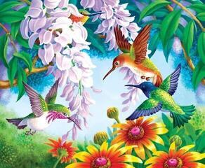 Gaira M992118KE 40 x 50 cm Hummingbirds