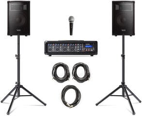 Alesis PA System in a Box Bundle Portable PA System