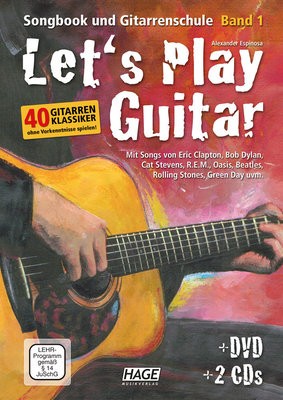 HAGE Musikverlag Let's Play Guitar with DVD and 2 CDs