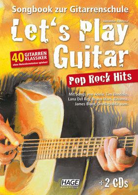 HAGE Musikverlag Let's Play Guitar Pop Rock Hits (2 CDs)