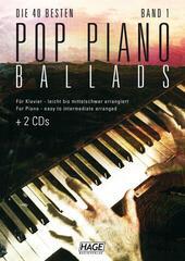 HAGE Musikverlag Pop Piano Ballads 1 (2x CD)
